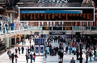 London Liverpool Street railway station concourse  UK
