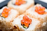 Traditional Japanese food Sushi, close_up