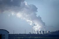 Cooling Towers emitting Steam _ Recklinghausen, North Rhine_Westphalia, Germany