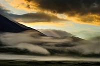 Ovalnaya Zimina volcano on Kamchatka at dawn