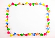 colorful necklace crystal frame