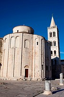 Pre_Romanesque St. Donatus church in Zadar, Croatia, founded in the 9th century as the Church of the Holy Trinity