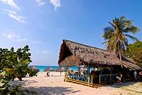 Beach Bar in Varadero, Cuba, Caribbean