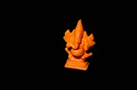 Statue of Indian god isolated on black background