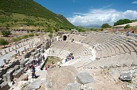 Roman theatre, antique city of Ephesus, Efes, Turkey, Western Asia