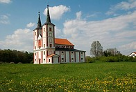 Church sv. Markety in Podlazice,Eastern Bohemia,Czech republic