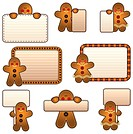 Gingerbread men and women labels
