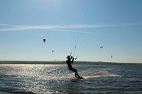 Kite surfing, Black Sea, Odessa, Ukraine, Eastern Europe