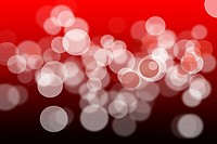 Abstract bokeh lights, red