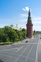 Moscow Kremlin as seen from Greater Stone Bridge, Moscow, Russia, Eurasia