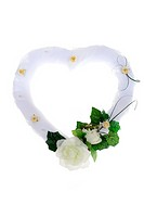Wedding ornaments, white heart from flowers
