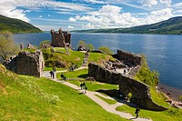 Urquhart castle, Loch Ness, Scotland, United Kingdom, Europe