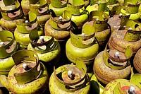 Gas cylinder, Jakarta, Indonesia, Asia
