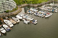 Marina on the north shore of False Creek, Vancouver, BC, Canada