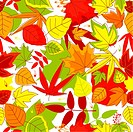 Autumn falling leaves seamless background for seasonal design