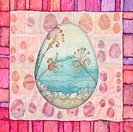 Background with frame with Easter egg