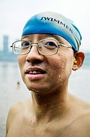 Yangtze river winter-swimming club, Chongqing , Sichuan Province, Yangtze River, China.