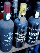 Bottles of vintage Port and at the Brasil store