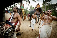 Festival near Alleppey, Kerala, India.