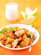 Chicken and vegetable Tajine