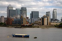 river thames docklands london england