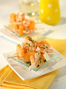 Melon_shrimp mini brochettes