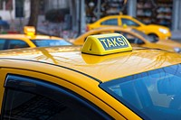 Close up of Turkish taxi sign