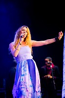 Joss Stone singing at her concert at the World Stage in Rock in Rio Lisbon 2012 Portugal