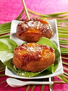 Individuel peach upside_down cakes