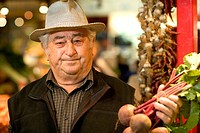 Senior Man in Farmer´s Market
