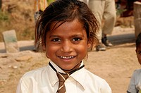 Indian girl, portrait, Kota, Rajasthan, North India, Asia