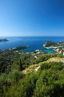 View of the bay of Paleokastritsa, Corfu, Ionian Islands, Greece, Europe