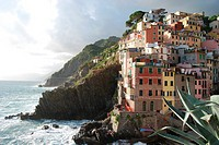 Overvoiew of the village of Riomaggiore. Cinque Terre. Liguria. Italy