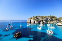 Spain, Balearic Islands, Cala Macarella Beach