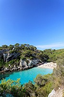 Spain, Balearic Islands, Cala Macarelleta Beach