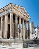 Temple of Augustus Center of Vienne France