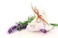 lavender flowers with bag