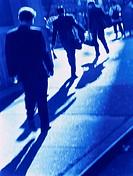 Businessmen Walking on Street