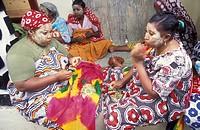 Eine Hochzeitsfeier in der Stadt Mutsamudu auf der Insel Anjouan der Inselgruppe der Komoren im Indischen Ozean