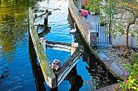 Canal, Brugge, Bruges, Flanders, Belgium.