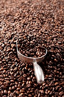 Metal Scoop In Coffee Beans