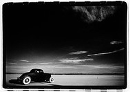 Vintage Car in Desert