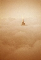 Spire of Empire State Building Above Clouds