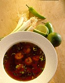 Thai spicy prawn soup