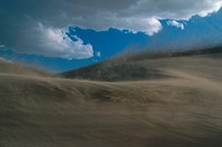 Wind Blowing Sand on Dumont Sand Dunes