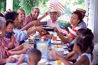 Family Enjoying Holiday Meal