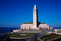 Exterior of Hassan II Mosque