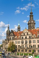 Hofkirche and Residenzschloss in Dresden, saxony, germany
