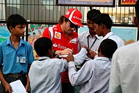 Fernando Alonso ESP, Scuderia Ferrari, F1, Indian Grand Prix, New Delhi, India