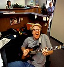 Office Worker Playing Guitar